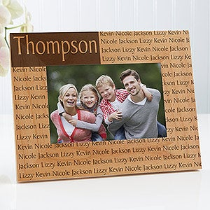personalized family name wood picture frames engraved free 4523 - Engraved Picture Frame