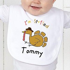 Personalization Mall Custom Thanksgiving Infant Bib - I'm Stuffed Turkey Design at Sears.com