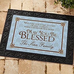 Personalized Welcome Doormat - May You Be Blessed - 4591