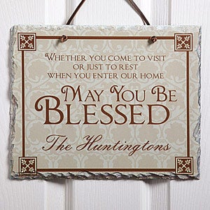 Home Decor - Personalized Welcome Signs - May You Be Blessed - 4592