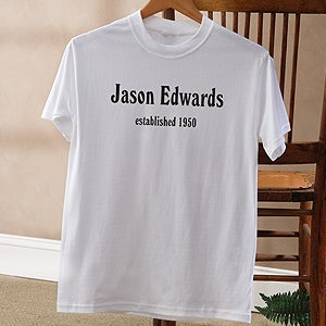 Personalized Birthday Clothing Gifts - Established design - 4611