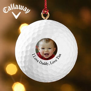 Personalized Photo Memories Golf Ball Ornaments - 4620