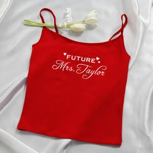 Personalized Camisole and Shorties Set - Red Future Mrs Design - 4649
