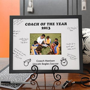 Sports Coach Personalized Signature Picture Frame - 4659