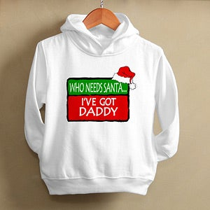 Personalization Mall Personalized Christmas Hooded Sweatshirt for Kids at Sears.com