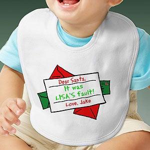 Personalization Mall Personalized Holiday Baby Bib - Dear Santa at Sears.com