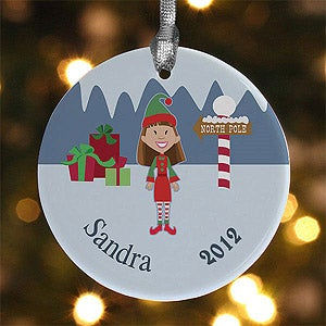 Personalization Mall Personalized Christmas Cartoon Character Porcelain Ornament at Sears.com