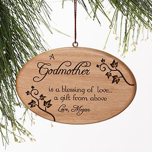 Personalized Blessings of Love Wood Christmas Ornaments - 4699