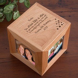 Personalization Mall Engraved Wooden Photo Cube Frame - You Shine Like a Star Design at Sears.com