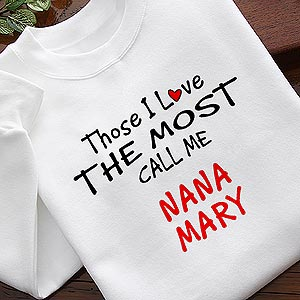 Personalized Custom Shirts and Accessories - Those I Love The Most - 4746