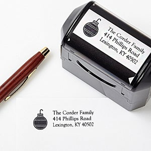 Personalized Holiday Self Inking Stamper - Home for the Holidays - 4757