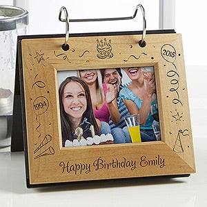 Happy Birthday Personalized Flip Photo Album - 4762