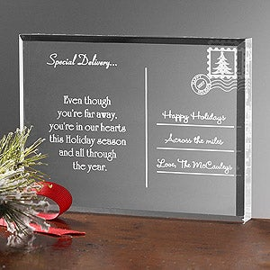 Personalization Mall Personalized Holiday Acrylic Postcard - Across The Miles at Sears.com