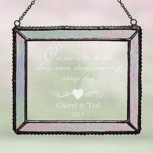 Personalization Mall Engraved Iridescent Glass Suncatcher - Romantic Couples Design at Sears.com