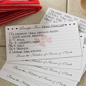 Printed 3 x 5 Recipe Cards Recipe For Love Sweetest Day Gifts