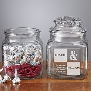 Personalized Candy Jar - Sweetest Love Design - 4818