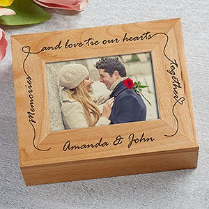 Personalized Wooden Photo Keepsake Box - 4863