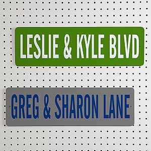 Personalized Street Signs for Couples - 4897