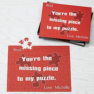valentine's day personalized puzzle gift - missing piece design, Ideas