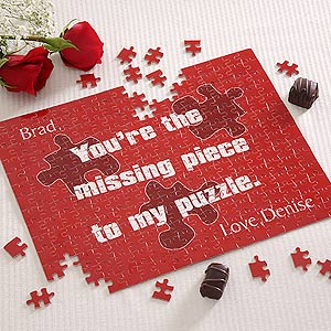 Valentine's Day Personalized Puzzle Gift - Missing Piece Design - 4903