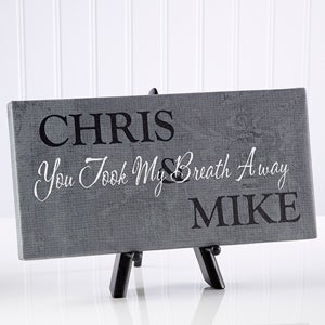 Personalized Canvas Art - Kiss Me Goodnight Collection - 4907