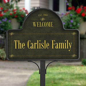 Personalized Family Welcome Yard Sign - 4919