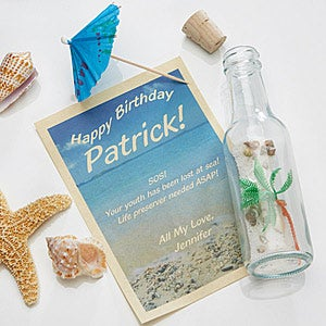 Personalized Birthday Gifts - Message In A Bottle - 4934