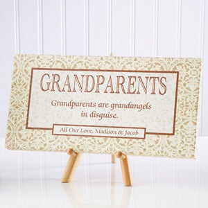Personalized Grandparent Gift Canvas Art - 4939