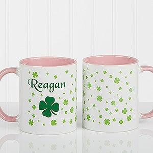Irish Shamrock Personalized Coffee Mug  - 4989