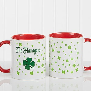 Irish Shamrock Personalized Coffee Mug  - 4989