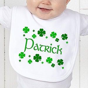 Personalization Mall St Patrick's Day Irish Shamrock Personalized Baby Bib at Sears.com
