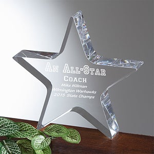 Personalized All Star Leaders Acrylic Award - 5059