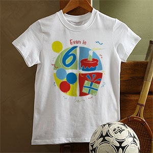 Personalization Mall Custom Birthday Kids T-Shirts - It's Party Time Design at Sears.com