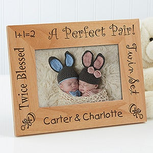 buy personalized twin baby picture frames personalized baby gifts from personalizationmallcom