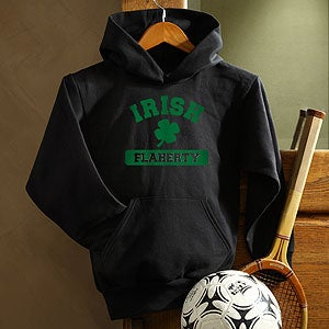 Personalization Mall Personalized Irish Shamrock Kids Hooded Sweatshirt at Sears.com
