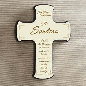 Personalization Mall Personalized Wall Cross - God Bless Our Home at Sears.com