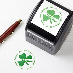 Irish Shamrock Self-Inking Address Stamp - 5157