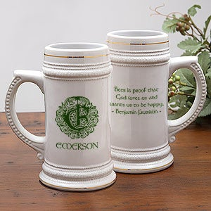 Famous Irish Quotes Personalized Ceramic Beer Stein - 5158