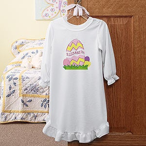 Personalization Mall Personalized Girls Easter Nightgown - Easter Egg Design at Sears.com