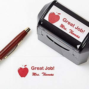 Personalized Self-Inking Teacher Stamper - Apple Stamp - 5180