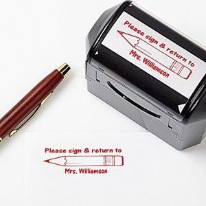 Personalized Self-Inking Teacher Stamper - Sign and Return - 5181