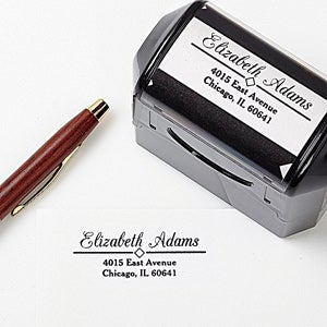 Self-Inking Personalized Return Address Stamp - Diamond Design - 5189