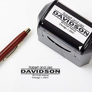 Personalized Self-Inking Address Stamper - Center Stage - 5198