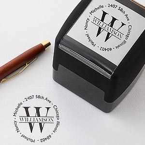 family name self inking personalized address stamp