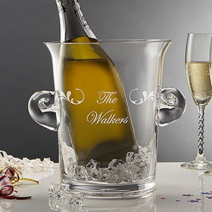 Custom Script Name Personalized Glass Ice Bucket - 5271