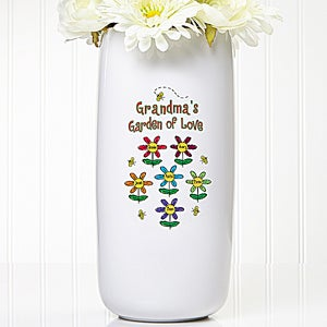Garden of Love Personalized Ceramic Flower Vase  - 5307