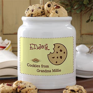Enjoy Ceramic Personalized Cookie Jars - 5318
