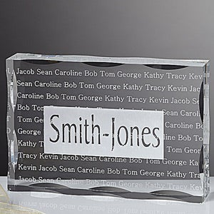 Personalized Gifts - Family Is Forever Family Names Keepsake  - 5327