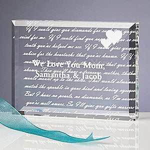 Personalized Poem for Mom Engraved Paperweight - 5329