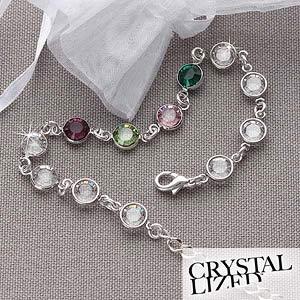 Sterling Silver Swarovski Custom Birthstone Bracelet - 5341D